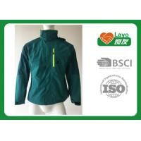 Buy cheap Outdoor Sport Warm Up Multi Function Jacket For Camping / Hiking Green Blue Color from Wholesalers