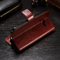 Wholesale Soft Protective Crazy Horse Leather Wallet Case For Samsung S8 Side - Open from china suppliers