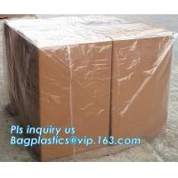 China Commercial clear gussted bags for pallet covers, Plastic vinyl cover with square bottom poly pallet cover, Tarpaulin Pal on sale