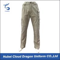 Buy cheap Middle East Beige Security Guard Pants For Men / Police Cargo Pants Poly Cotton Canvas from Wholesalers