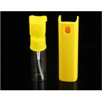 Wholesale Yellow 20ml Perfume Pump Sprayer , Mini Plastic Spray Bottle With Plastic Shell from china suppliers