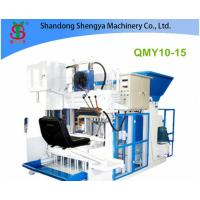 Wholesale QMY10-15 Big production mobile hydralic concrete block making machine from china suppliers