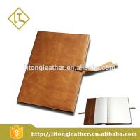 Top-grade unique design PU oil wax leather fashion business diary