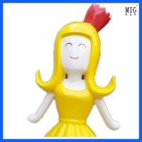Wholesale company mascots  theme fiberglass  statue of  flower fair  character statue customize as decoration from china suppliers