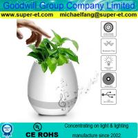 Smart Magic LED Music Flowerpot with K3 Bluetooth Speaker Touch Play Function
