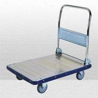 Wholesale Zinc-plated Platform Cart with Folding Handle and 350kg Capacity from china suppliers