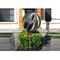 Wholesale Attractive Stainless Steel Sphere Sculpture / Contemporary Steel Sculpture from china suppliers