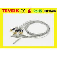 Buy cheap DIN 1.5 socket Gold Plated Copper Ear-clip EEG Cable, Waterproof EEG cable from wholesalers