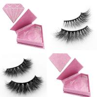 Wholesale Private label mink eyelashes strip lashes with custom eyelash box from china suppliers