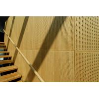 Wholesale Auditorium Melamine Surface Perforated Wood Sheets / Music Studio Acoustic Panels from china suppliers