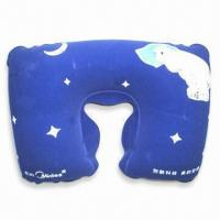 Wholesale PVC Comfortable Neck Pillow with 100% Polystyrene Beads Filling, Available in Various Colors from china suppliers
