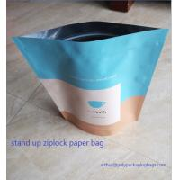 Quality Dry Food Foil Ziplock Bags / Craft Paper Bags With Gravure Printing for sale