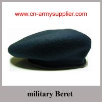 China Army Beret with 100% wool or wool mixes with polyester nylon on sale