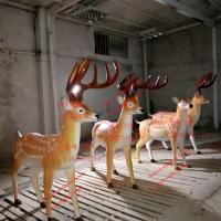 Wholesale animal statue elk sculptures statues of fiberglass nature painting as decoration statue in garden theme park from china suppliers