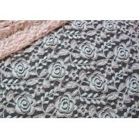 Wholesale Cotton Spandex Polyester Stretchy Lace Fabric With Mesh Knitted Flower Lace from china suppliers