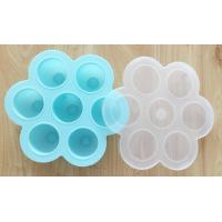 China Silicone Egg Bites with PP Lid, For Baby Food Storage Container Molds on sale