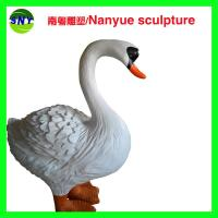 Wholesale customize size fiberglass animal  statue   swan model as decoration statue in garden /square / shop/ mall from china suppliers