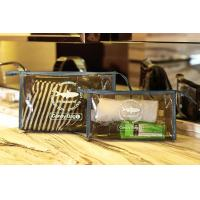 Wholesale PVC Travel Kit Zipper Pouch Transparent Vinyl Make-up Pouch for Swimming and Beach from china suppliers