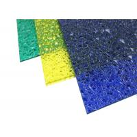 China Extruded Polycarbonate Plastic Roof PanelEmbossed For Indoor Decoration on sale