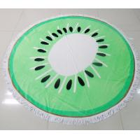Wholesale cheap wholesales diameter 150cm reactive printed round beach towel with tassels from china suppliers
