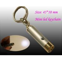 China OEM metal mini size led rechargeable flashlights keychain torch on sale