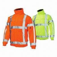 Wholesale Reflective Safety Jackets, High Visibility, Breathable, PU Coating, Wind- and Water-proof from china suppliers