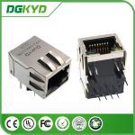 100 Megabit integrated magnetics RJ45 Ethernet Connector Module with LED, Distance 4.06MM