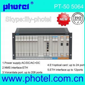 Buy cheap 1~300 FXO/FXS 8E1 4Eth over fiber PCM MUX SFP module from wholesalers