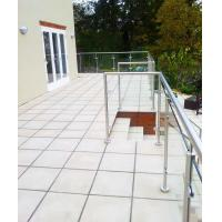 Wholesale Terrace Glass Railing/ Glass Balustrade with Stainless Steel Post from china suppliers