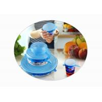 Wholesale Stretchable Silicone Food Covers , Silicone Lid Covers For Bowls / Pots / Cups from china suppliers