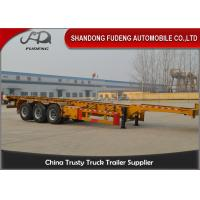 Wholesale Semi Chassis Container Trailer 40 Foot Straight Frame Tri Axle Container Carrier Truck from china suppliers