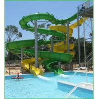 Wholesale Large Aqua Splash Amusement Water Park Slides , Open / Closed Curving Slides from china suppliers