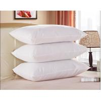 White Goose Feather and Down Pillow, 100% Cotton Fabric, King Size, Set of 2