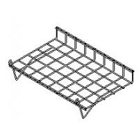 Wholesale Lilladisplay gridwall slanting shelf with lip 600x380mm chrome 22430 from china suppliers