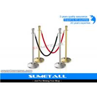 Wholesale Stainless Steel Retractable Barrier Posts / Security Rope Barriers For Crowd Control from china suppliers