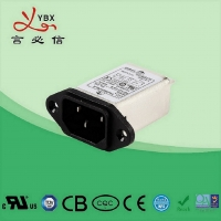 Buy cheap Single Phase Power 0.8mA IEC 320 Socket EMI Filter from wholesalers