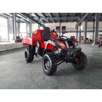 China Red One Seat 200CC GY6 4x4 Utility ATV FAMER Tractor , Tipping Quad on sale