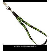 Wholesale black color heat transfer printing logo 10*900mm nylon lanyard from china suppliers