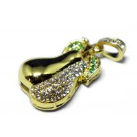 Wholesale OEM Metal Gold Diamond USB Memory Stick 8G High Speed USB 2.0 from china suppliers