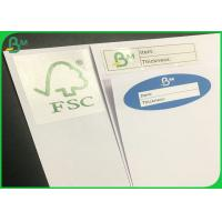 China 60g 70g Uncoated Woodfree Paper / White Exercise Book Paper With FSC Certificate on sale