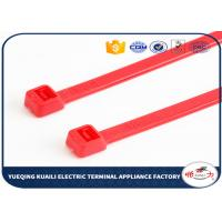 China Zip releasable cable ties Heat resisting PA66 nylon wire ties on sale