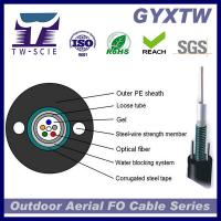 Buy cheap Armored Optical Fiber Cable Central Loose Tube PE GYXTW 4F-24F for Aerial Use from Wholesalers