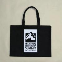 Wholesale Handled Black Cotton Canvas Tote Bag / Fashionable Printed Canvas Tote Bags from china suppliers