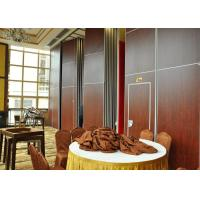 Vinyl Finish Top Hung Folding Sliding Partitions  For Wedding Room