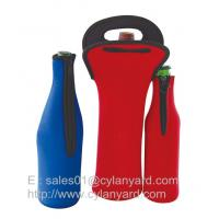 Neoprene beer bottle cooler with zipper, high graded neoprene bottle coolers,