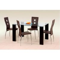 China 2016 hot sell contemporary glass dining table and chairs xydt-019 on sale