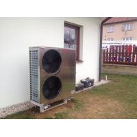 Air Source Chiller Air To Water Heat Pump , EVI Air Source Heat Pump 18kw WIFI Control