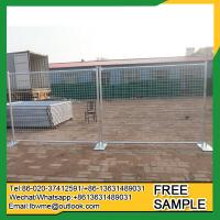 Buy cheap Hannibal portable construction fence temporary standing even fence from wholesalers