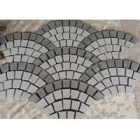 China Fan Shape Decorative Landscaping Stone Granite Paving Stones With Net On The Back on sale