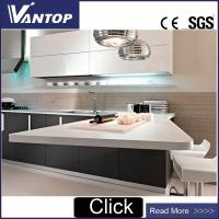China Cheap Engineered Quartz Stone Pure White Kitchen Quartz Worktop VT1800 on sale